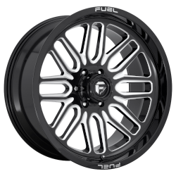Ignite 20x10 Gloss Black Milled 8x170 Bolt Pattern -18mm Offset