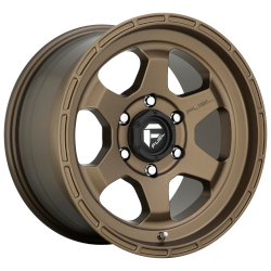 Shok 17x10 Matte Bronze 5x127 (5x5) Bolt Pattern -18mm Offset