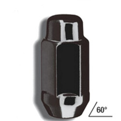 Gorilla Black Chrome Lug 24 Pack