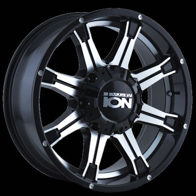 Nitto Tires Racing >> ION 196 - BLACK/MACHINED FACE/MACHINED UNDERCUT 18x9 8x180 +18mm 130.8mm