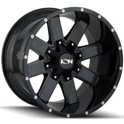 141 GLOSS BLACK - MILLED SPOKES