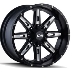 184 SATIN BLACK - MILLED SPOKES