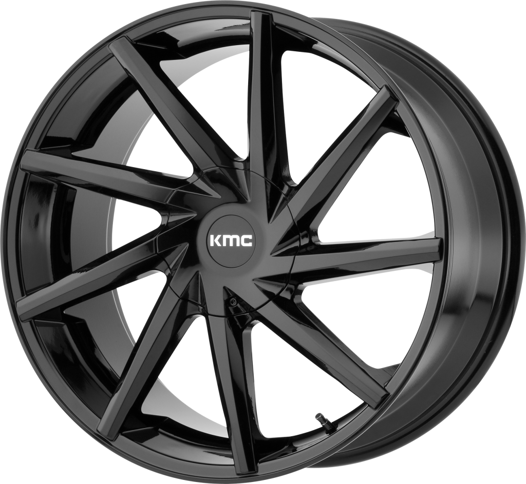 Burst 20x8.5 Gloss Black 6x135, 6x139.7 (6x5.5) Bolt Pattern 35mm Offset