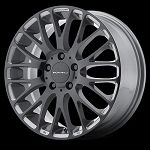 MAZE 17x7 5x120 Gloss Black W/ Pearl Grey Accents (45MM Offset)