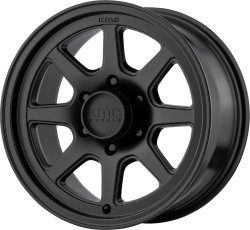 Turbine 15x8 Satin Black 5x114.3 (5x4.5) Bolt Pattern -19mm Offset