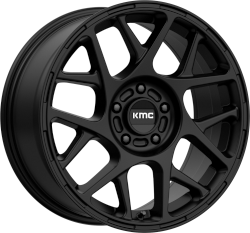 Bully 15x7 Satin Black 5x114.3 (5x4.5) Bolt Pattern 10mm Offset