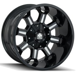 COMBAT 8105 GLOSS BLACK - MILLED SPOKES