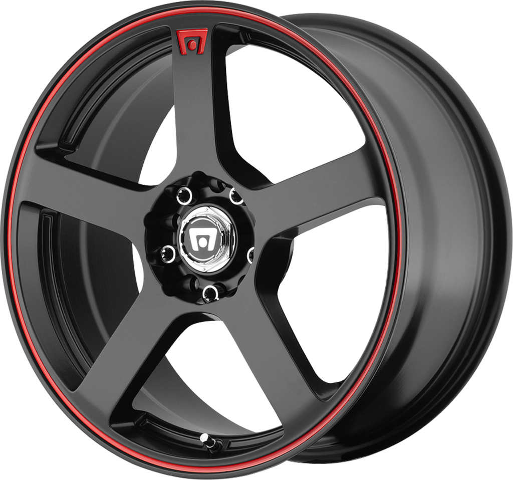 MR116 16X7 5/4.5 - 5/112 M-BLACK-RED 40MM