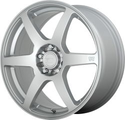 CS6 15x6.5 Hyper Silver 4x100, 4x108 (4x4.25) Bolt Pattern 40mm Offset