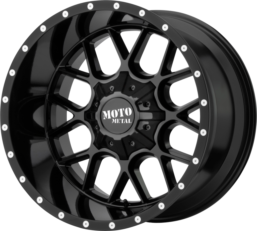 Siege 20x12 Gloss Black 8x170 Bolt Pattern -44mm Offset