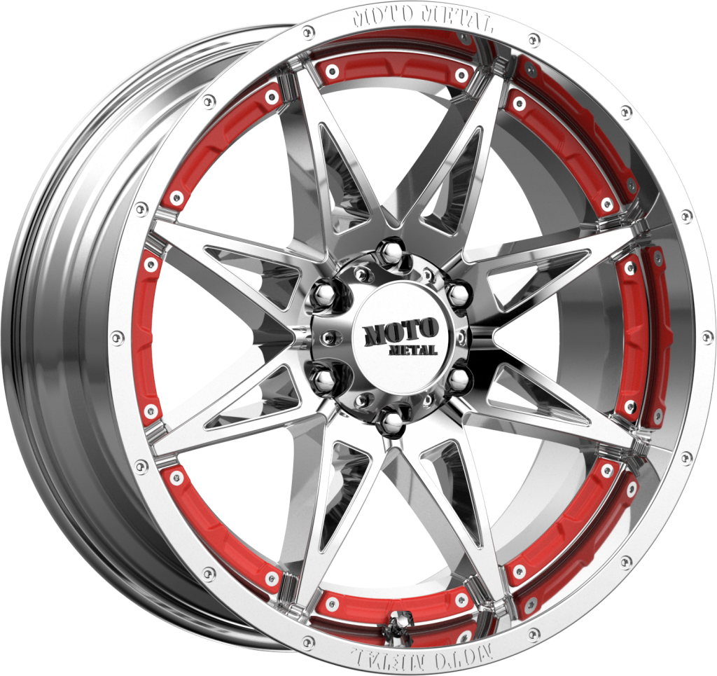 Hydra 20x9 Chrome 8x165.1 (8x6.5) Bolt Pattern 0mm Offset