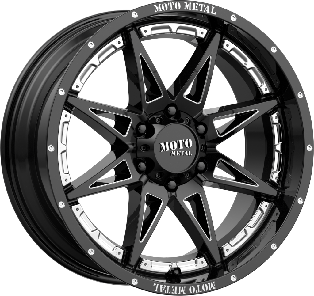 Hydra 18x8.5 Gloss Black Milled 6x135 Bolt Pattern 18mm Offset
