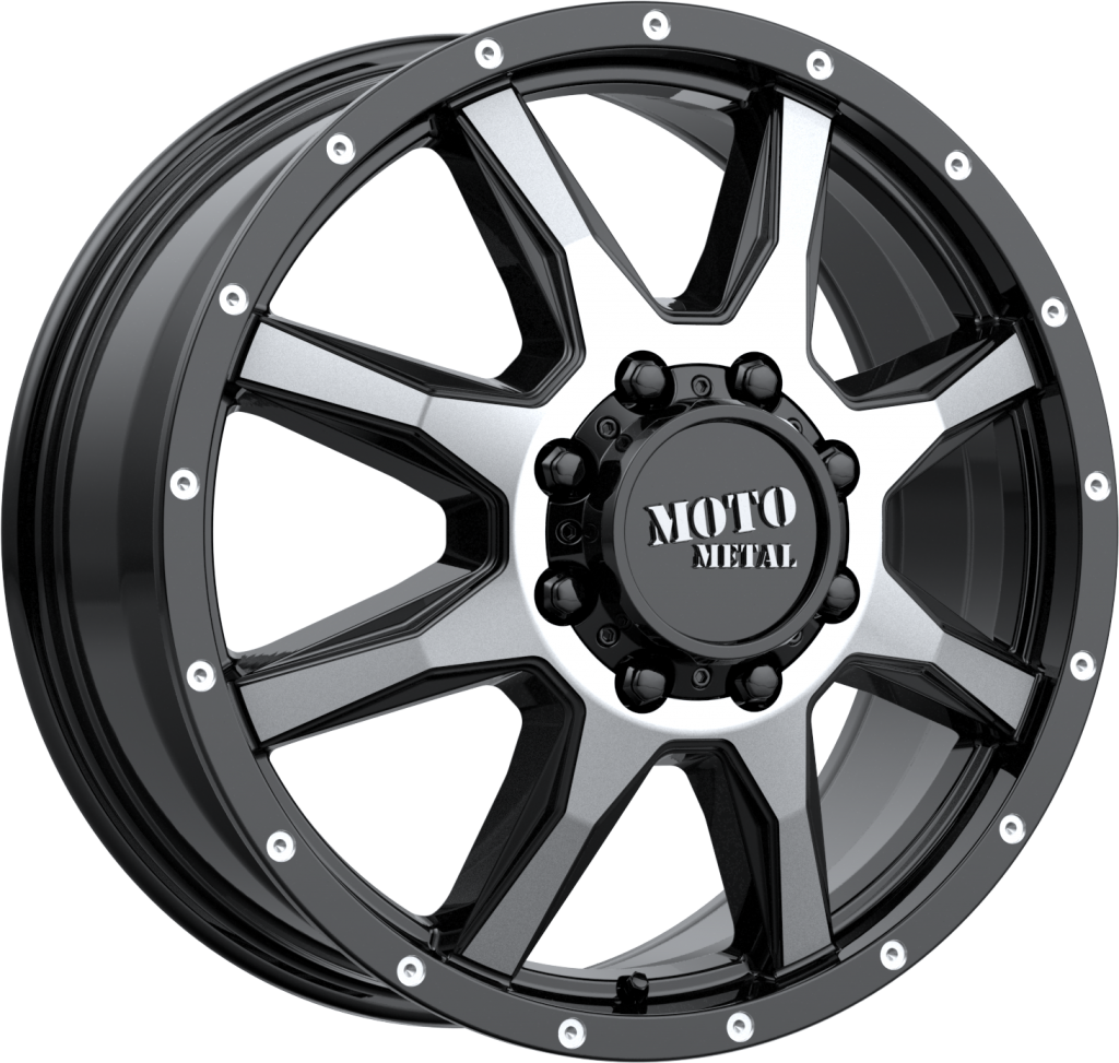 MO995 17x6.5 Gloss Black Machined - Front 8x200 Bolt Pattern 111mm Offset