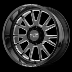 MO401 Forged 20x10 5x127.00 GLOSS BLACK MILLED (-24 mm)