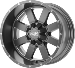 MO962 20x10 5x127.00/5x139.70 Satin Gray w/Milled Accents (-24 mm)