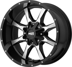 MO970 20x9 Gloss Black Machined Face Blank Bolt Pattern 0mm Offset