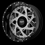 CHANGE UP 20x12 5x127.00 GLOSS BLACK MILLED W/ BRUSHED INSERTS (-44 mm)