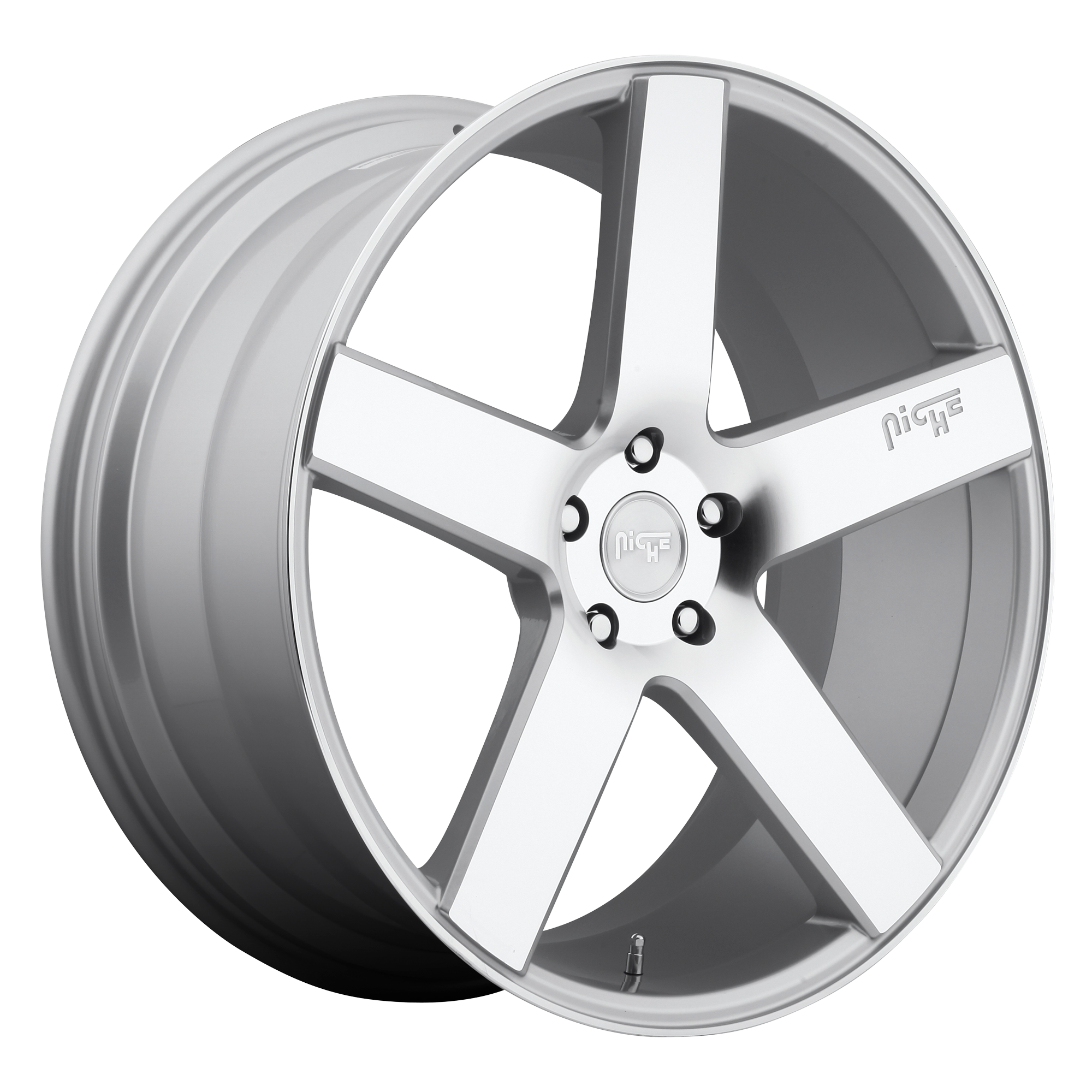 Milan 19x8.5 Gloss Silver Machined 5x114.3 (5x4.5) Bolt Pattern 35mm Offset