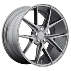 Misano 17x8 Matte Gun Metal 5x114.3 (5x4.5) Bolt Pattern 40mm Offset