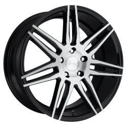 Trento 18x8 5x120 Gloss Black Brushed (40 mm)
