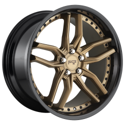 Methos 19x8.5 5x120 Matte Bronze Black Bead Ring (35 mm)
