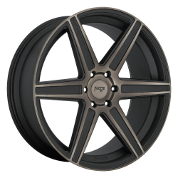 Carina 24x10 Matte Machined Double Dark Tint 6x139.7 (6x5.5) Bolt Pattern 30mm Offset