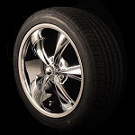 18x8 5x4.5 Chrome Ridler 695 Package