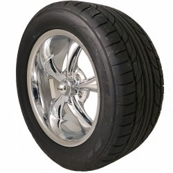 Ridler 695 17x7 & 18x8 5/4.5 Staggered Wheel and Tire Package Set of Four