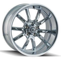 650 CHROME 17x7  5x120.65  0mm Offset