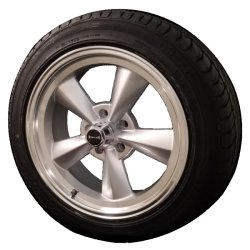 Ridler 675 17x8 & 17x9.5 5/4.75 Staggered Wheel and Tire Package Set of Four