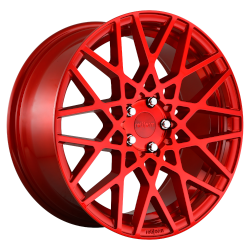 BLQ 18x8.5 Candy Red 5x112 Bolt Pattern 45mm Offset