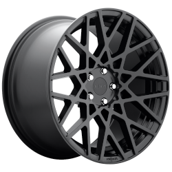 BLQ 18x8.5 Matte Black 5x112 Bolt Pattern 35mm Offset