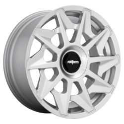 CVT 18x8.5 Gloss Silver 5x112 Bolt Pattern 45mm Offset