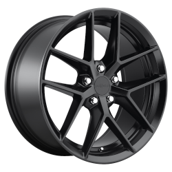 FLG 18x8.5 Matte Black 5x108 (5x4.25) Bolt Pattern 45mm Offset