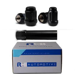 RHI Automotive 8 Lug Black Kit with Locks