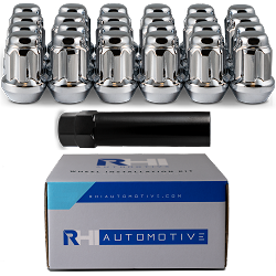 RHI Automotive 8 Lug Spline Chrome Kit