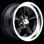 Black Standard 15x8 5/4.75 +1MM Offset
