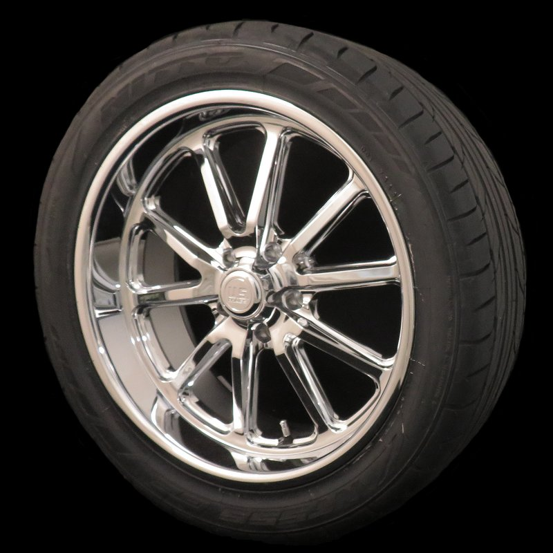 U.S. Mags Chrome Rambler 17x8 5x4.5 Wheel and Tire Package