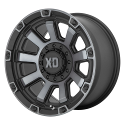 XD852 Gauntlet 20x10 Blank Satin Black Gray Tint -18mm (108-140)