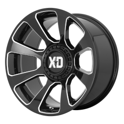 XD854 Reactor 20x10 Blank Gloss Black Millled -18mm (108-140)