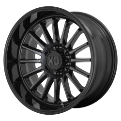 XD857 Whiplash 20x10 5x5.0 Gloss Black Gray Tint -18mm