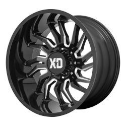 XD858 Tension 20x10 5x5.0 Gloss Black Millled -18mm