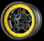 RS3 Black W/ Ring Insert 22x10 5x5.0, 5x5.5 (-18mm)