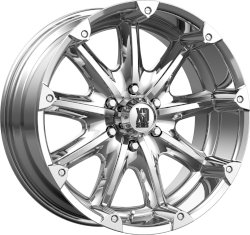 Badlands 20x9 Chrome 5x127 (5x5) Bolt Pattern -12mm Offset
