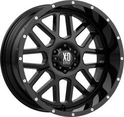 Grenade 20x10 Gloss Black 5x127 (5x5) Bolt Pattern -24mm Offset