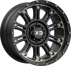 Hoss 2 20x10 8x170 Satin Black Machined w/ Dark Tint Clear COAT (-24 mm)