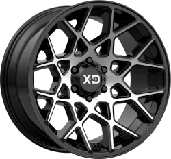 Chopstix 20x10 8x170 Gloss Black Machined (-24 mm)
