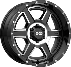 Fusion 20x12 8x170 Gloss Black Machined (-44 mm)