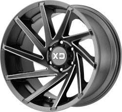 Cyclone 20x10 8x170 Satin Gray Milled (-18 mm)