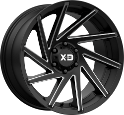 Cyclone 20x12 8x170 Satin Black Milled (-44 mm)